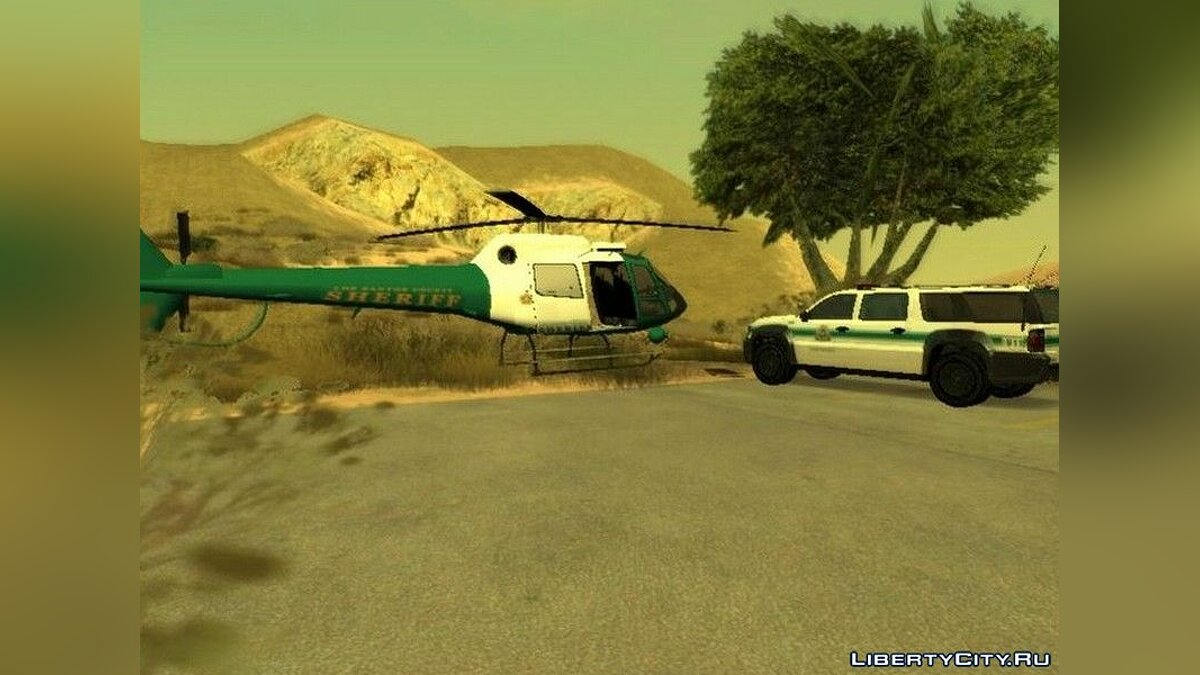 Planes and helicopters Sheriff's Helicopter for GTA San Andreas