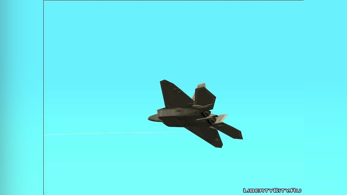 Planes and helicopters F-22A Trigger (Strider 1) for GTA San Andreas