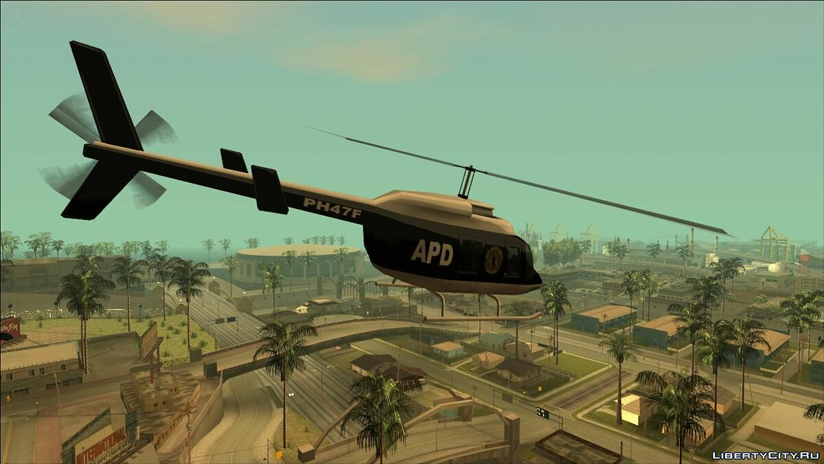 Planes and helicopters Pak Police Maverick (FROM GTA UNDERGROUND) for GTA San Andreas