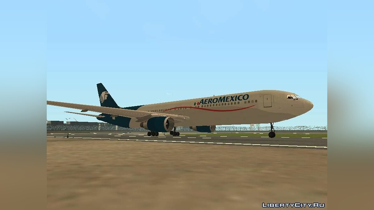 Planes and helicopters Boeing 767-300 AeroMexico V2 for GTA San Andreas