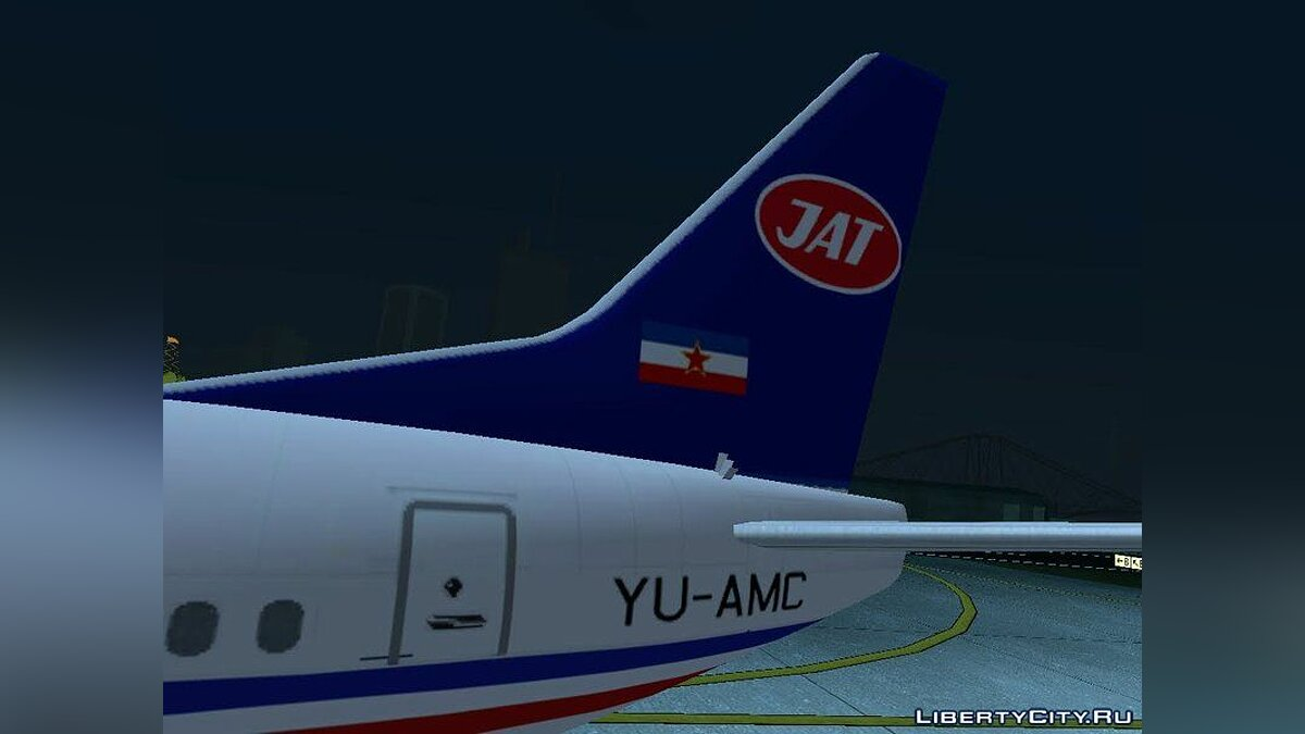 Planes and helicopters Boeing 737-300 JAT - Yugoslav Airlines for GTA San Andreas