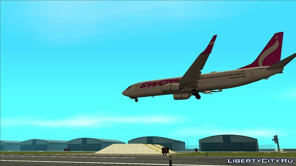 Planes and helicopters Boeing 737-800 for GTA San Andreas