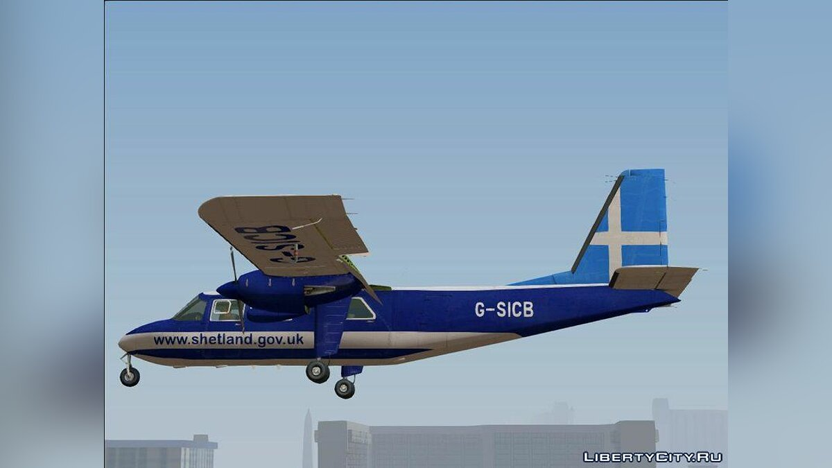 Planes and helicopters Britten-Norman BN-2 Islander for GTA San Andreas