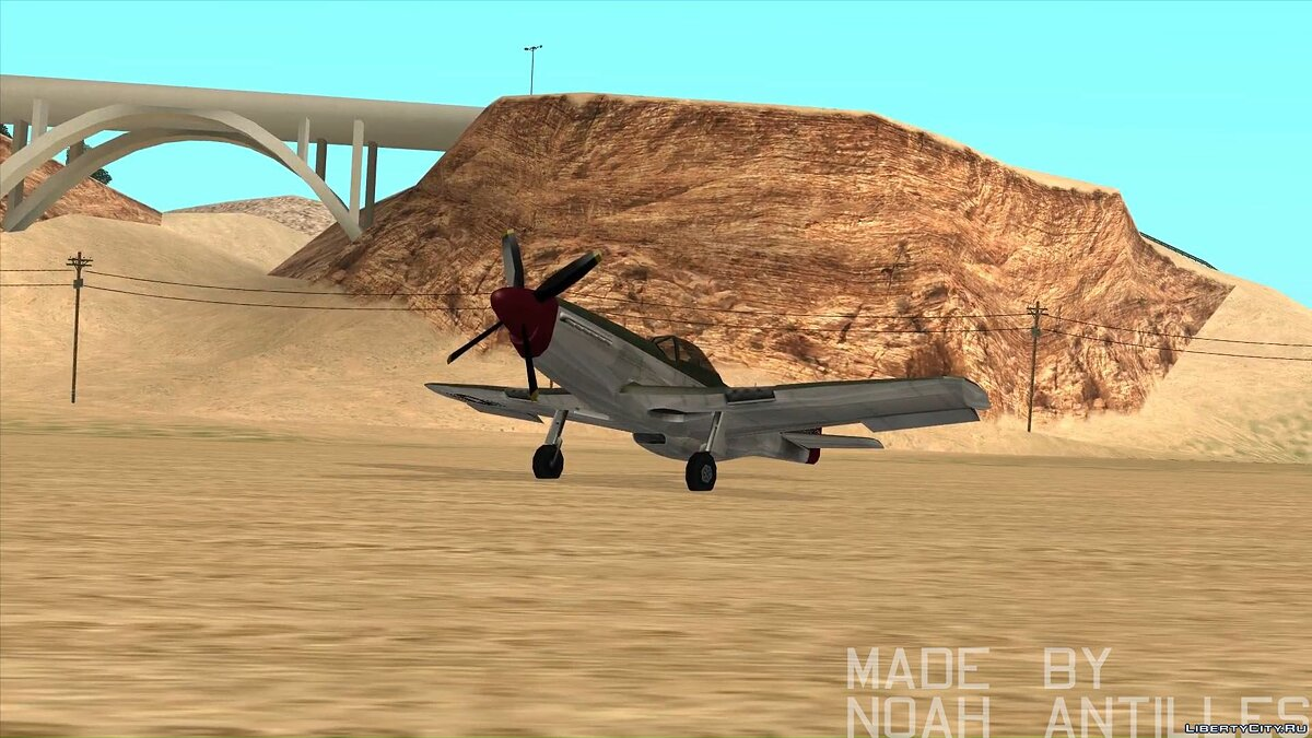 Planes and helicopters Rustler - P51 Mustang for GTA San Andreas