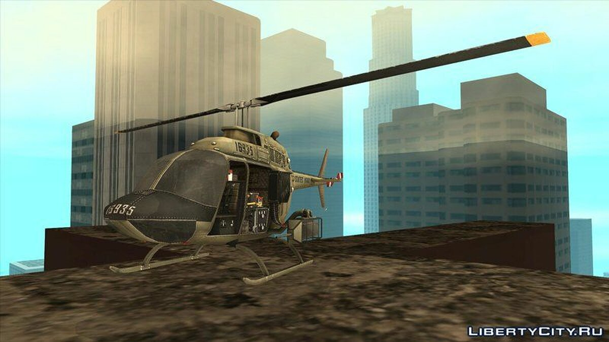Planes and helicopters Bell OH-58A Kiowa for GTA San Andreas