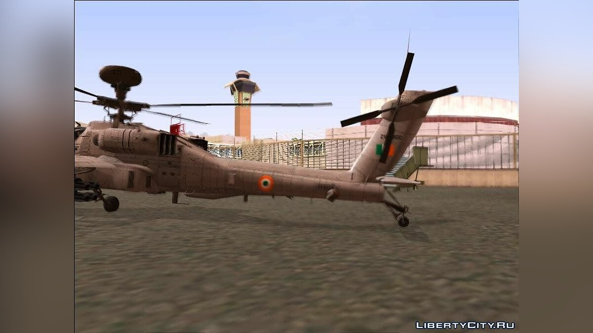 Planes and helicopters AH-64E Indian Air Force for GTA San Andreas