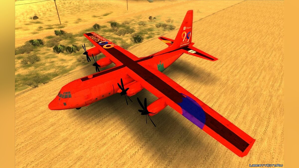 Planes and helicopters Free Fire Air Transporter for GTA San Andreas