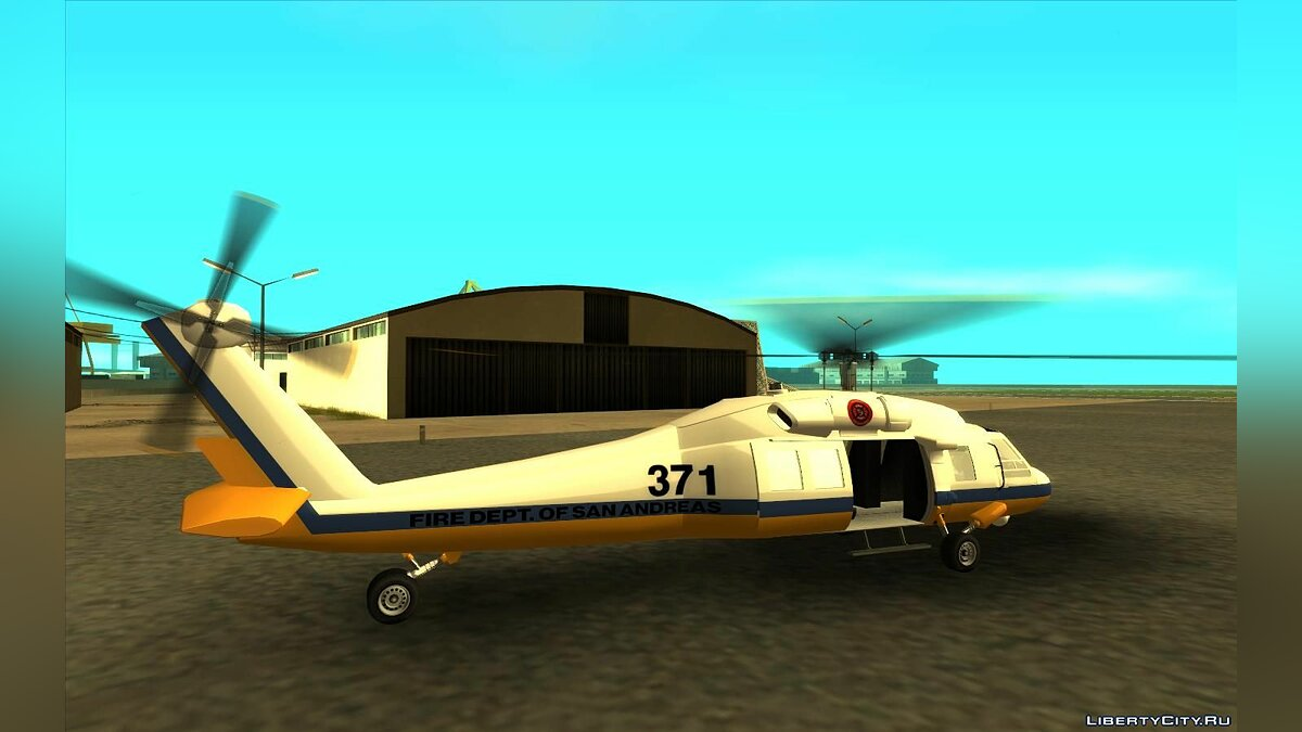 Planes and helicopters GTA 5 Raindance for GTA San Andreas