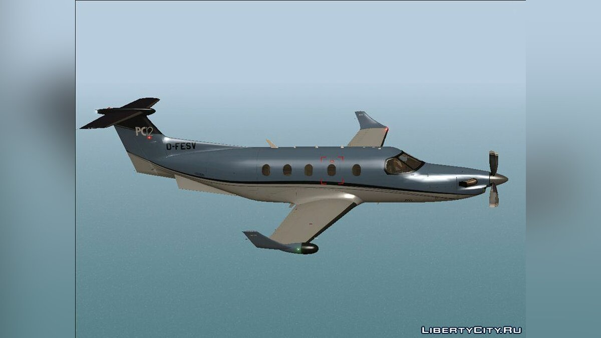 Planes and helicopters Pilatus PC-12 for GTA San Andreas