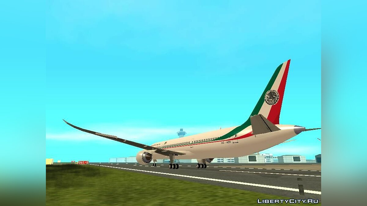 Planes and helicopters Presidential Boeing 787-8 for GTA San Andreas