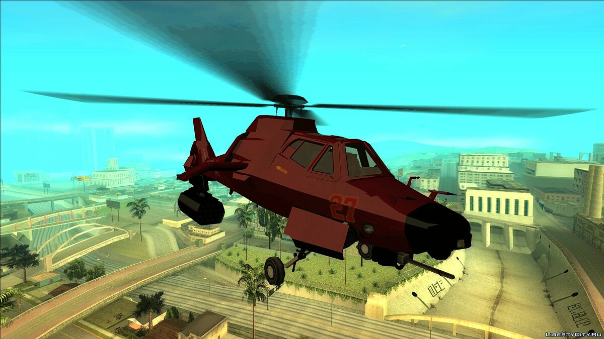 Planes and helicopters Akula Stealth Helicopter from GTA Online for GTA San Andreas
