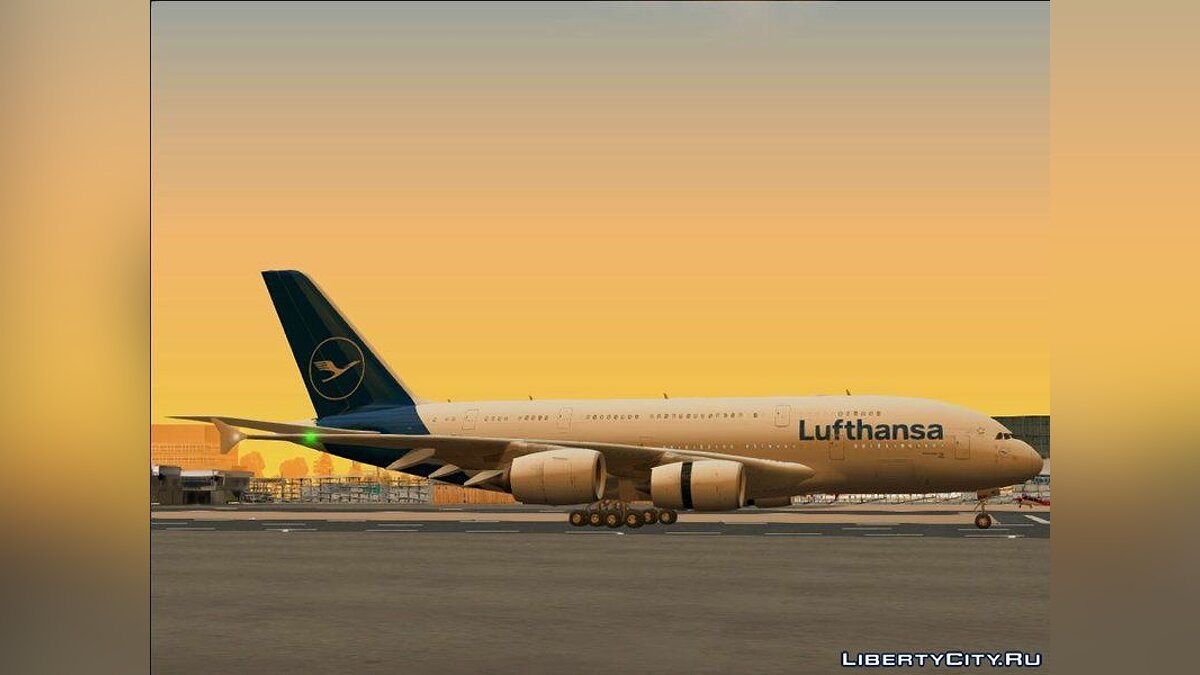 Planes and helicopters Airbus A380-841 for GTA San Andreas