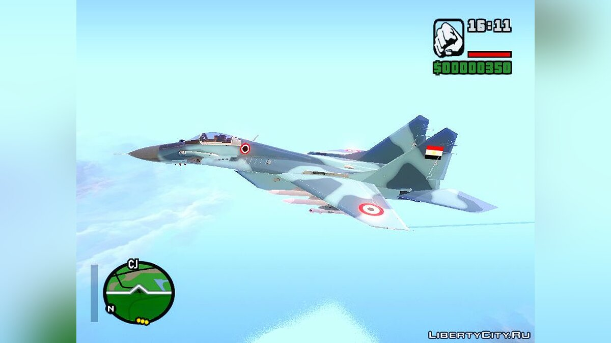 Planes and helicopters MiG - 35 Egyptian Navy for GTA San Andreas