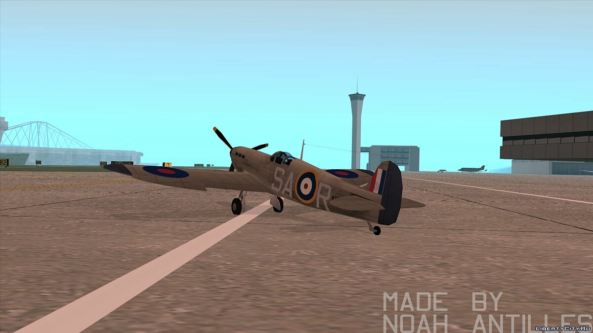 Planes and helicopters Rustler - Spitfire MK1 for GTA San Andreas