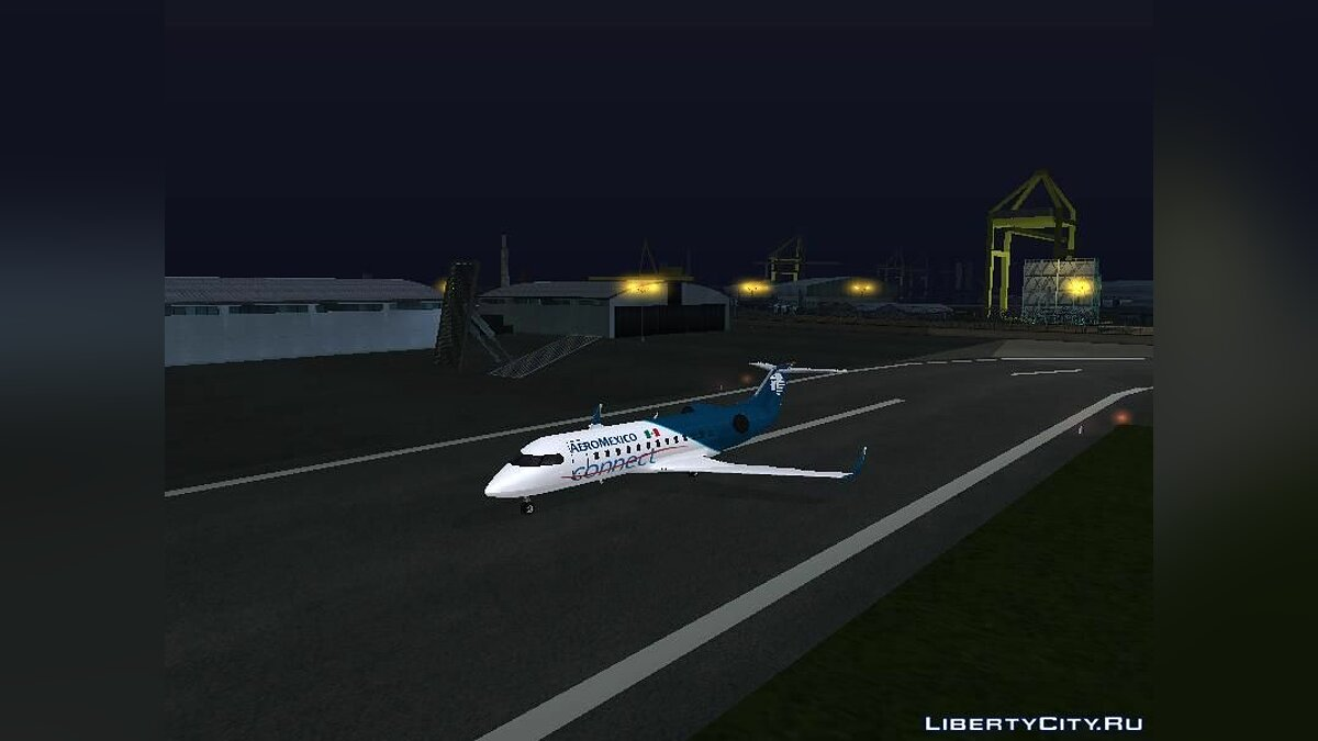 Planes and helicopters Buckingham Starjet (Civilian Miljet) Aeromexico Connect V2 for GTA San Andreas