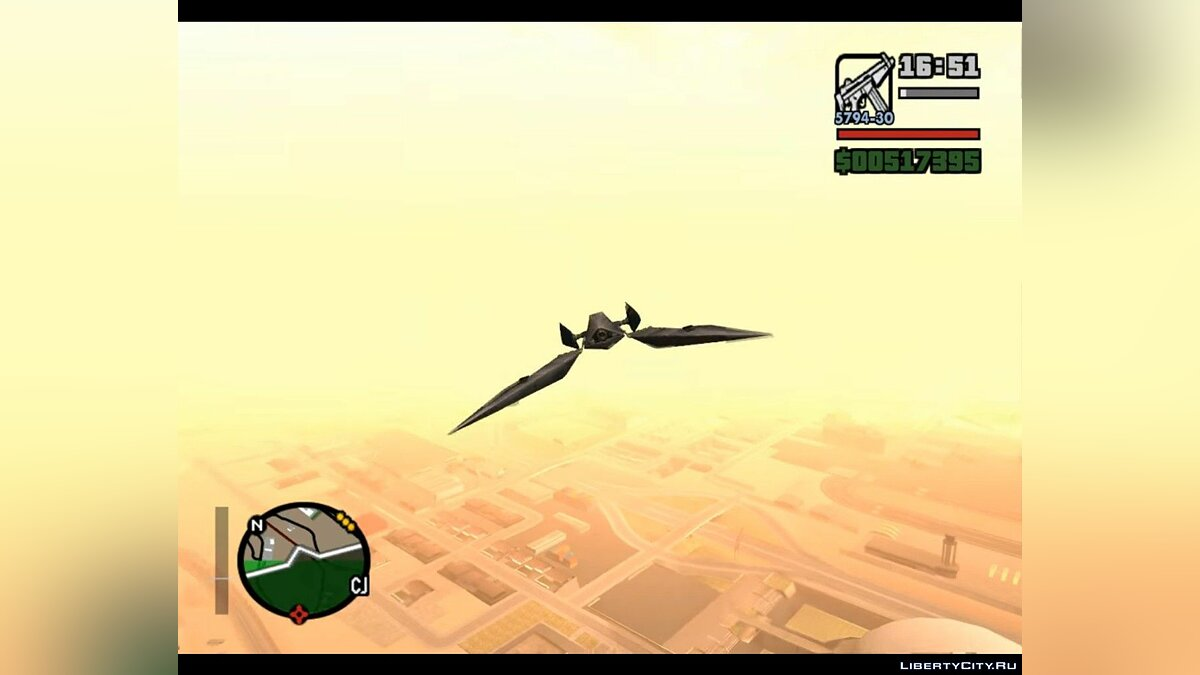 Planes and helicopters Arwing mod for GTA San Andreas