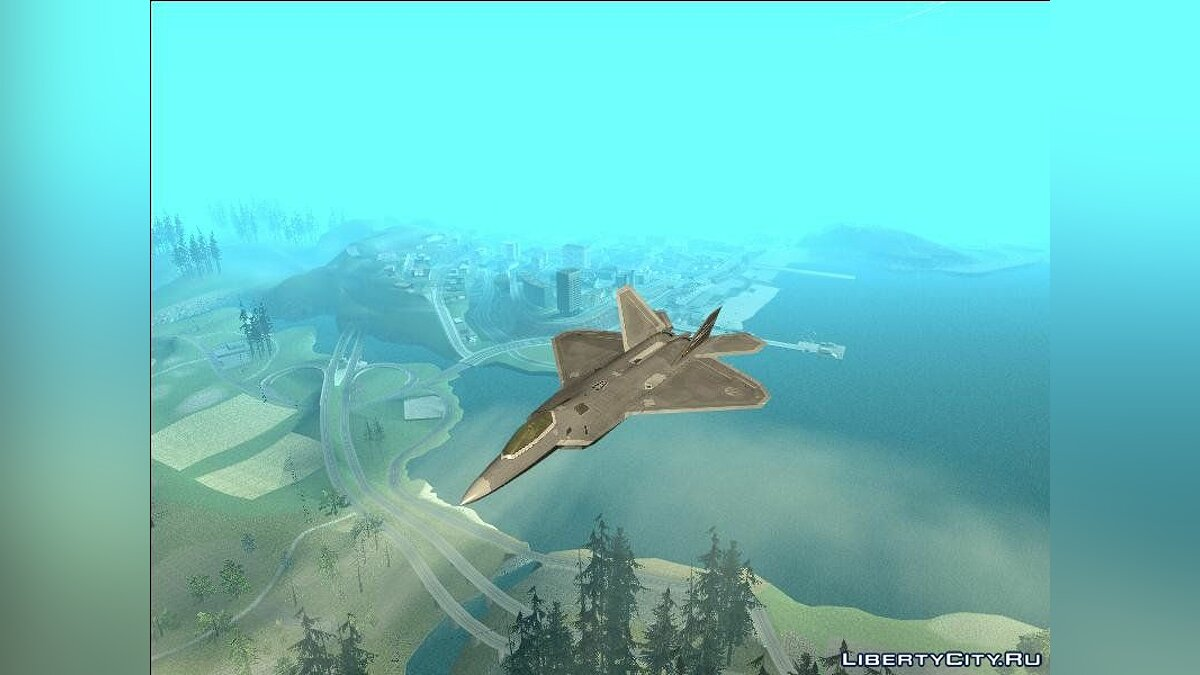 Planes and helicopters F-22 Raptor Fully Loaded for GTA San Andreas