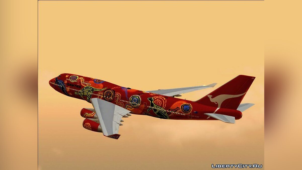 Planes and helicopters Boeing 747-400 RR RB211-524 for GTA San Andreas