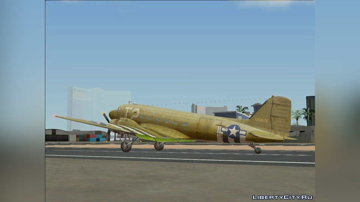 Planes and helicopters Douglas C-47 Skytrain for GTA San Andreas