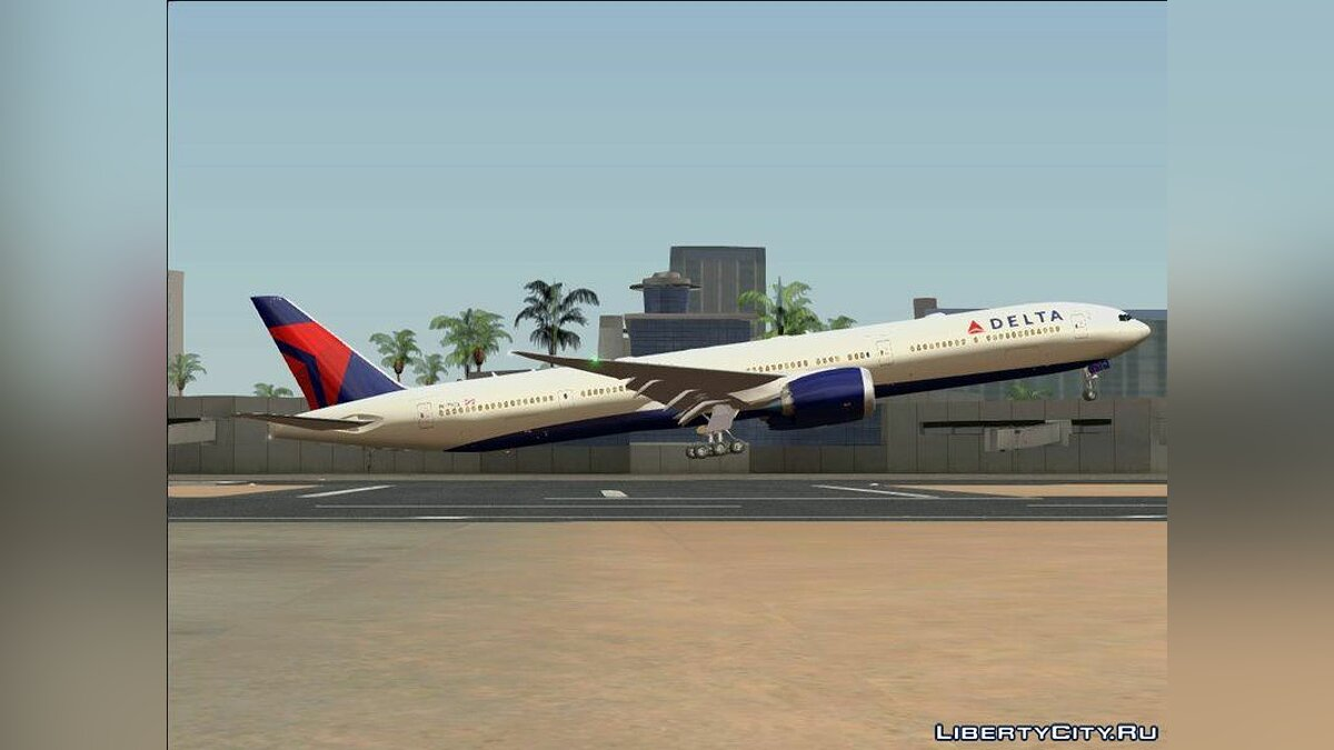 Planes and helicopters Boeing 777-9X for GTA San Andreas
