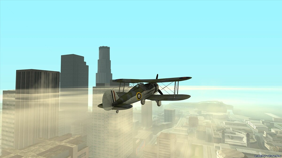 Planes and helicopters Gloster gladiator for GTA San Andreas