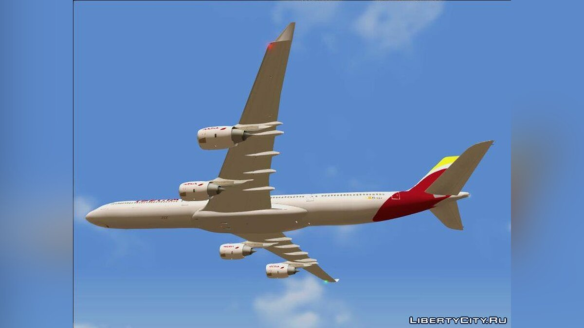 Planes and helicopters Airbus A340-600 for GTA San Andreas