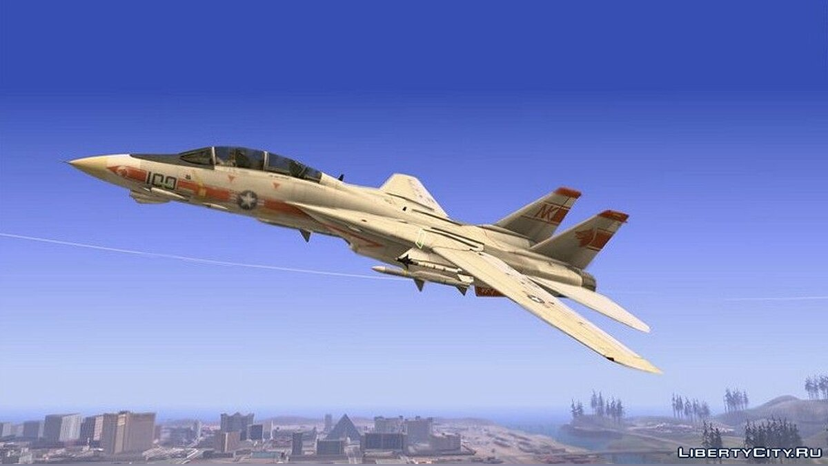 Planes and helicopters F-14 Tomcat improved for GTA San Andreas