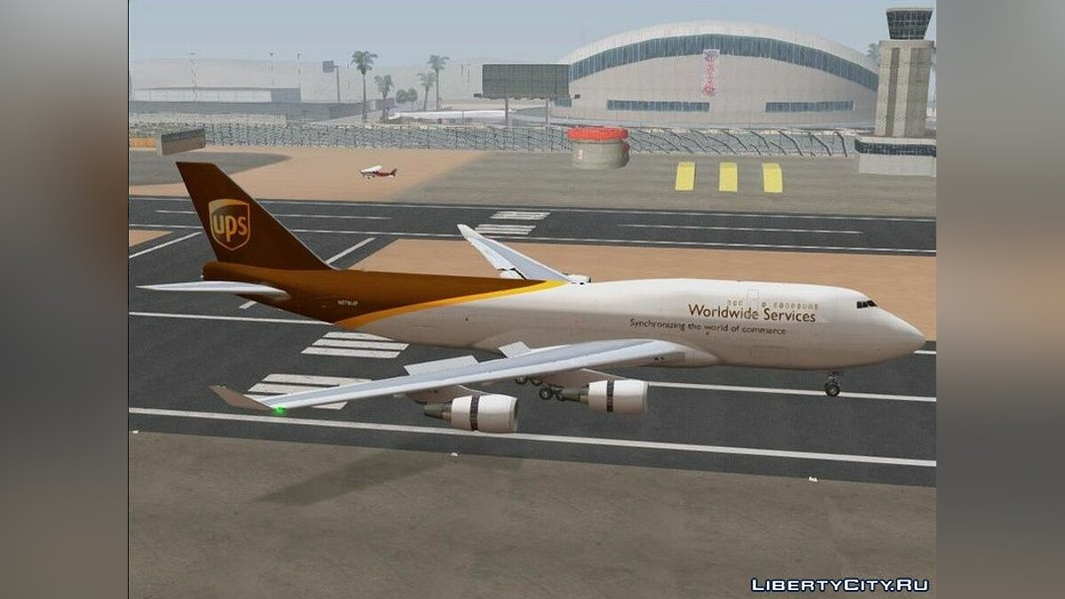 Planes and helicopters Boeing 747-400 GE CF6-80C2 for GTA San Andreas