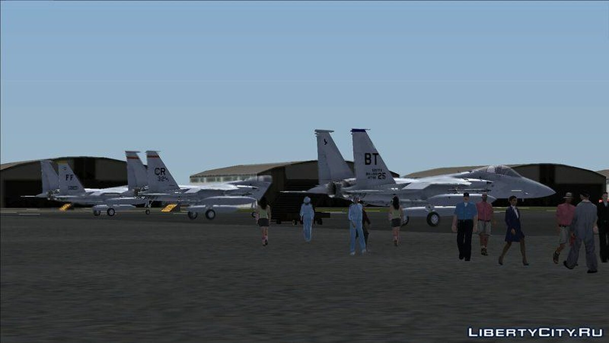 Planes and helicopters F-15 Eagles Over Baghdad for GTA San Andreas