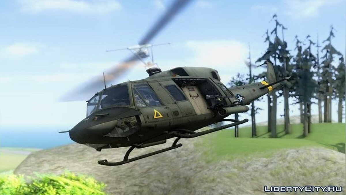 Planes and helicopters Bell uh-1n for GTA San Andreas