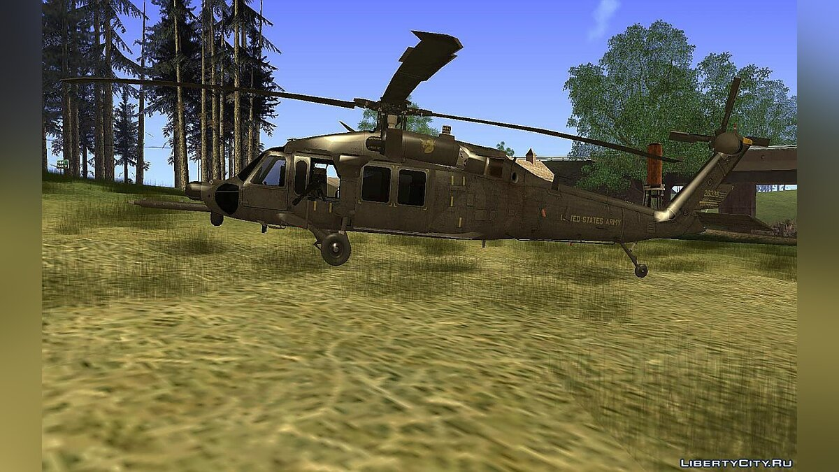 Planes and helicopters MH-60L AC AH for GTA San Andreas