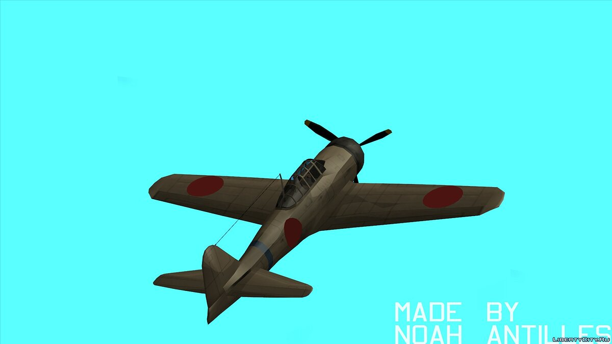 Planes and helicopters Rustler - A6M Zero for GTA San Andreas