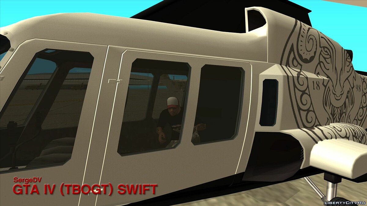 Planes and helicopters GTA IV (TBoGT) Swift for GTA San Andreas