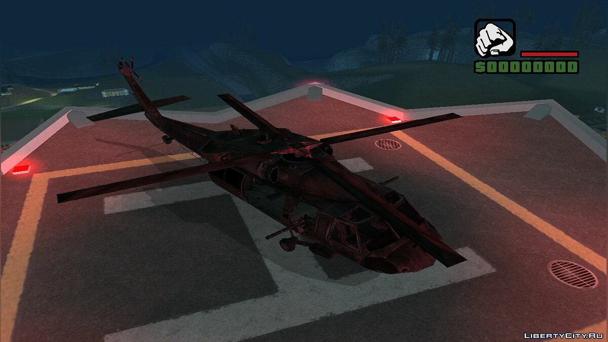 Planes and helicopters UH-60 (Black Hawk) from F.E.A.R for GTA San Andreas