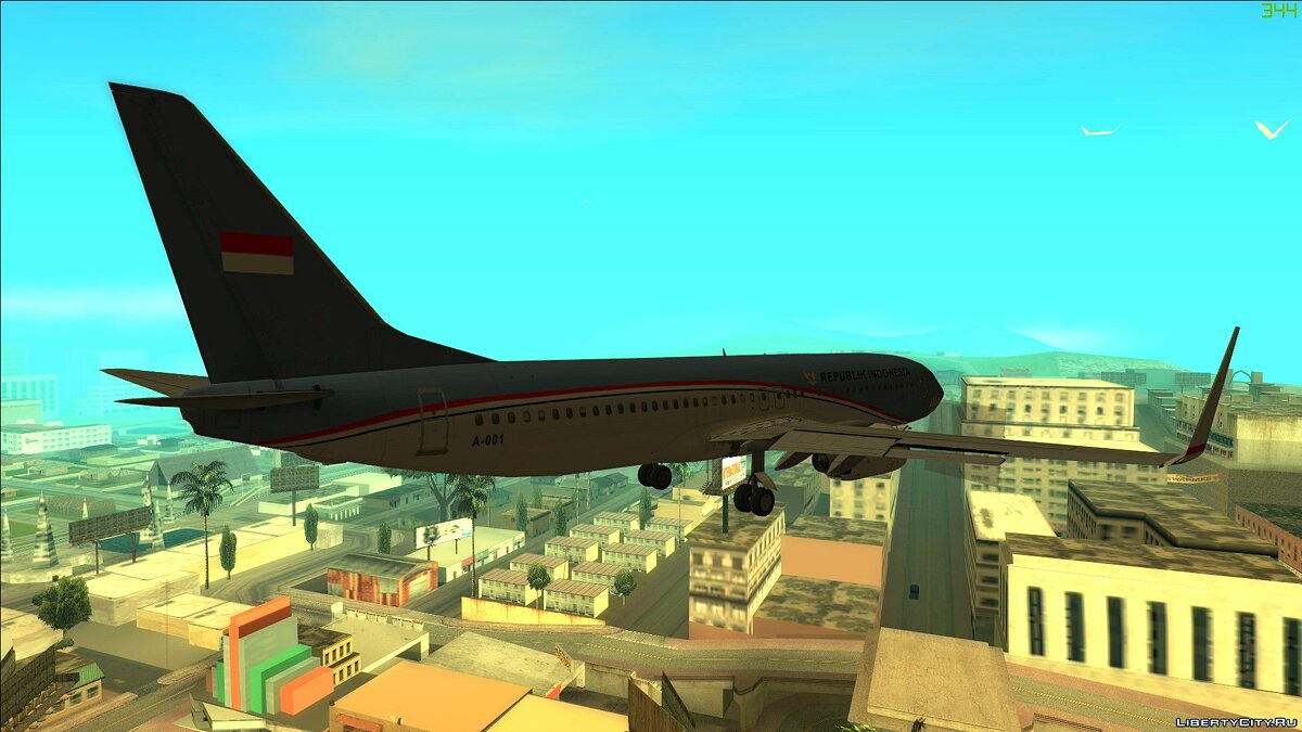 Planes and helicopters Indonesian Government Boeing 737-800 for GTA San Andreas