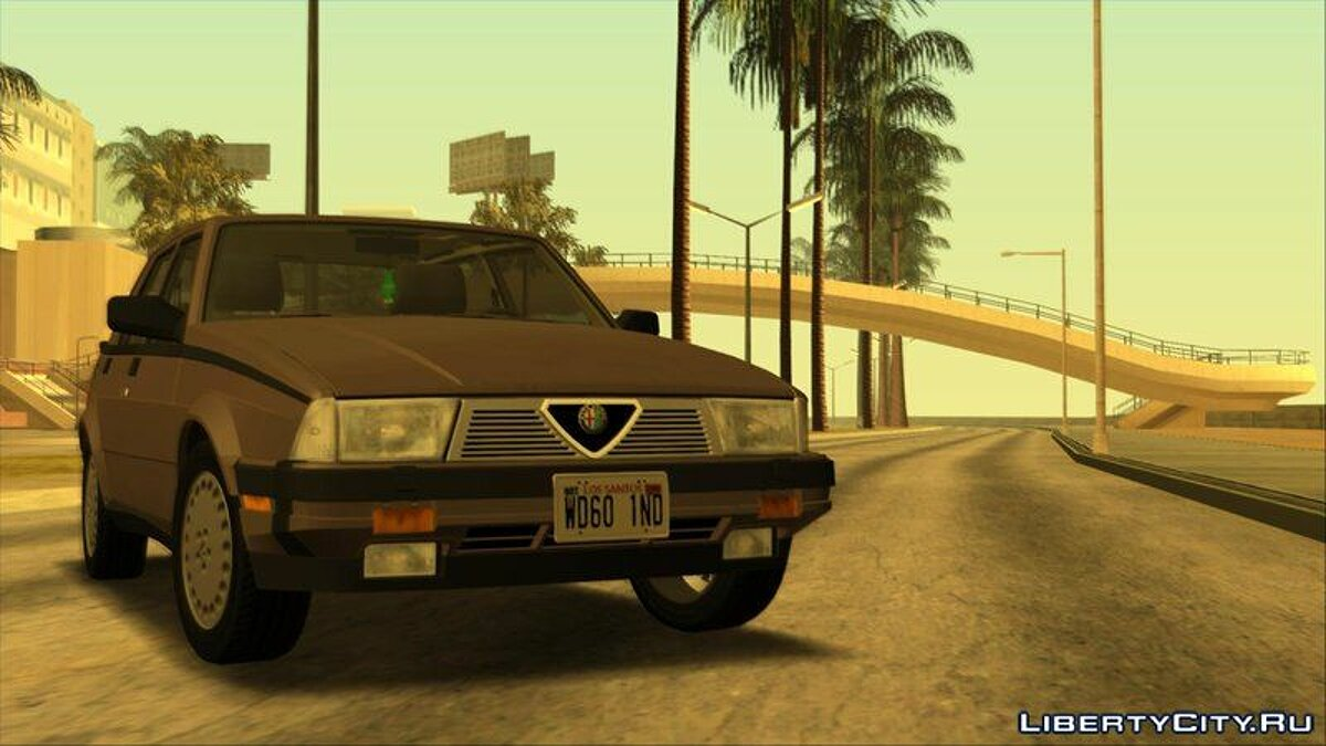 Alfa Romeo car Alfa Romeo Milano 3.0 V6 1987 (US-Spec) for GTA San Andreas