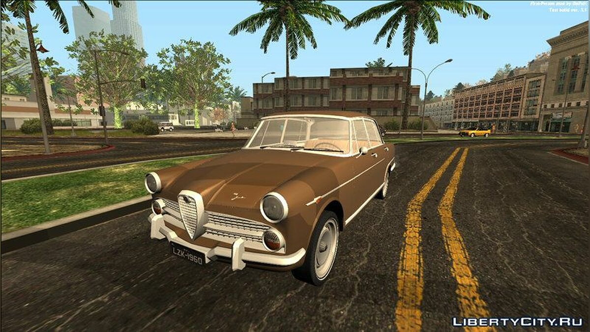 Alfa Romeo car Alfa Romeo FNM 2000 JK 1960 for GTA San Andreas