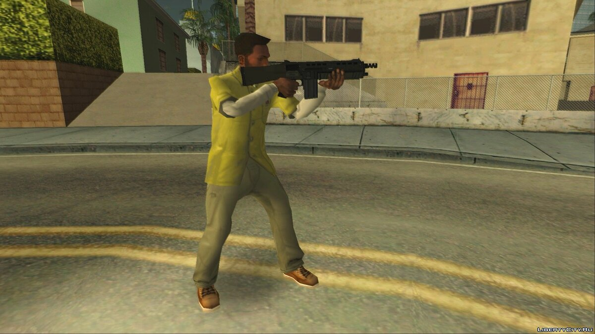 Animation mod New animations when using weapons V1.0 Alpha for GTA San Andreas