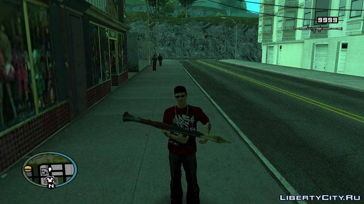 Animation mod Change weapons as in GTA 5 for GTA San Andreas