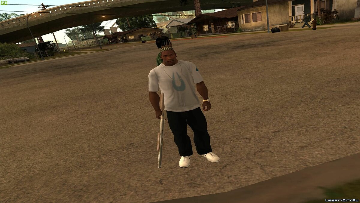 Animation mod Heavy Weapons In One Hand Mod for GTA San Andreas