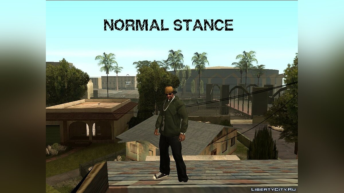 Animation mod Animations from GTA 4 + rapper style V2 for GTA San Andreas