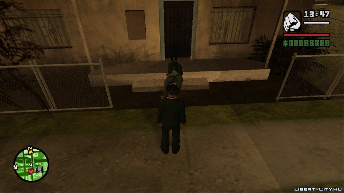 Gangster Sit Fix - Gangsters are now sitting on the steps in the ghetto for GTA San Andreas