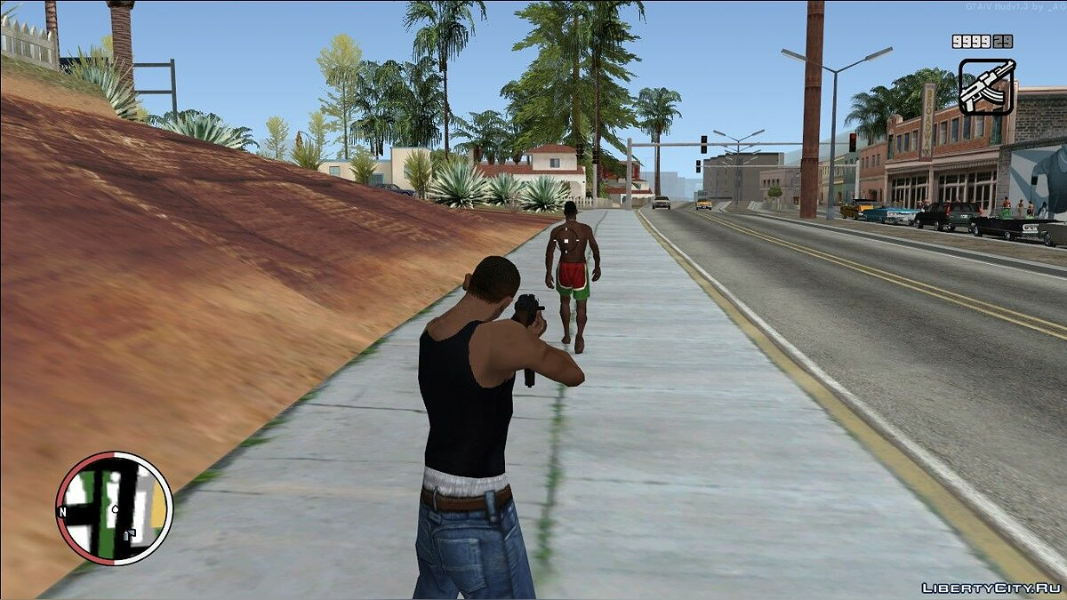 GTA 4 HUD v1.3 в стиле SA for GTA San Andreas