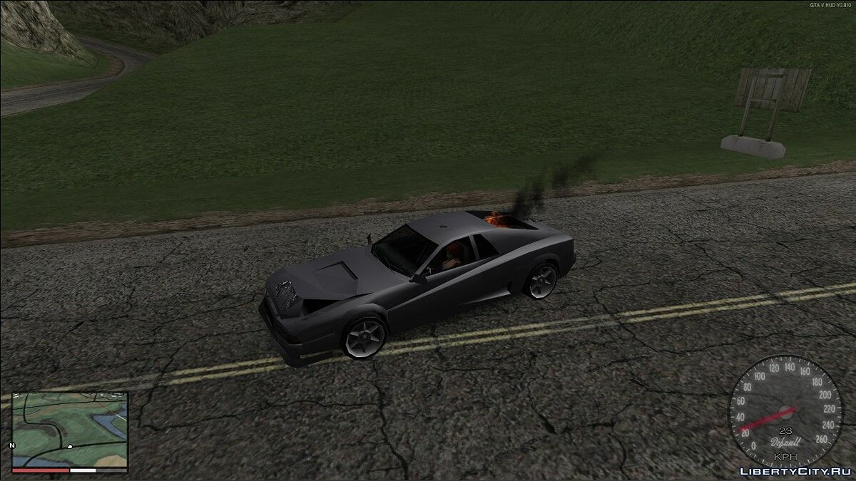 Engine shutdown in case of fire for GTA San Andreas