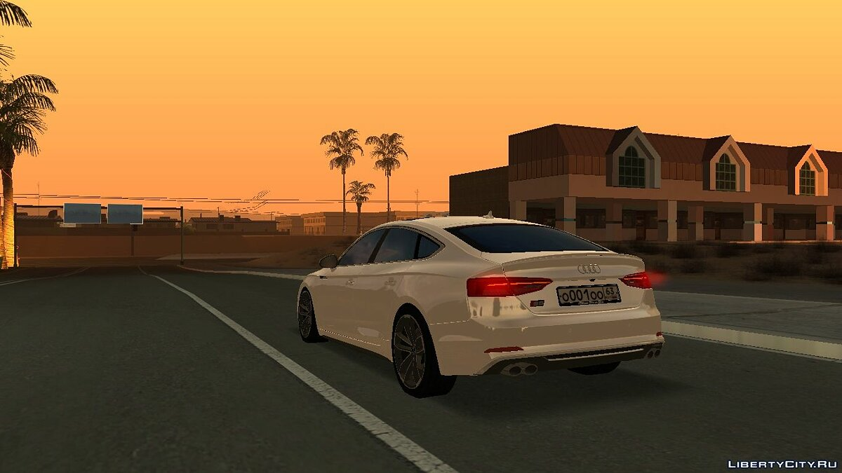 Audi car Audi S5 Sportback with tuning for GTA San Andreas