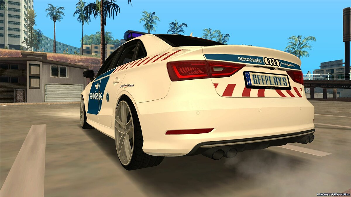 Audi car Audi A3 Limousine - Hungarian Police for GTA San Andreas