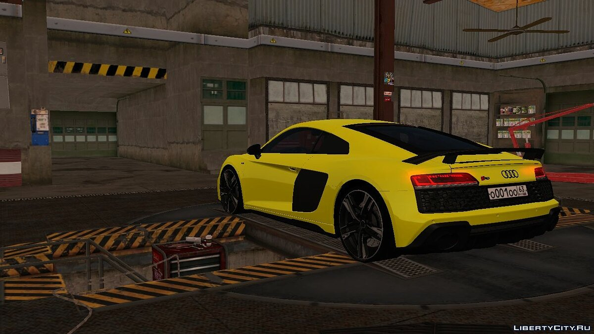 Audi car Audi R8 V10 Plus 2020 with tuning for GTA San Andreas