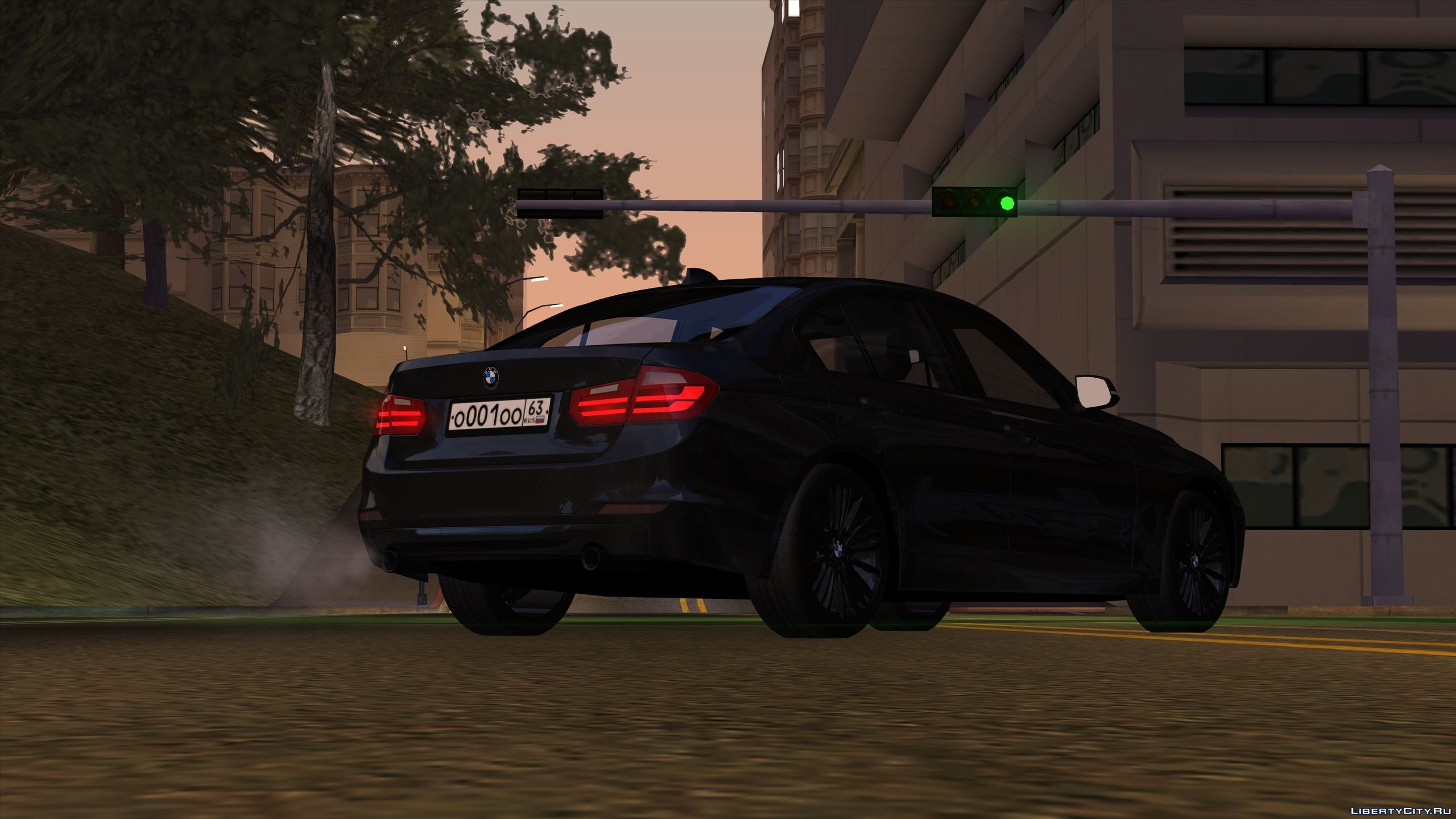 Bmw 3 Series F30 With Tuning For Gta San Andreas