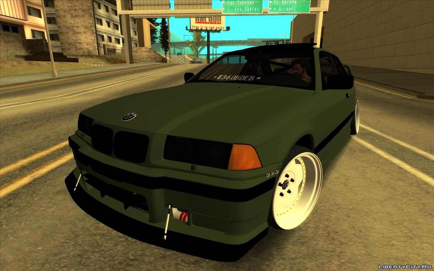 1998 Bmw E36 Green Army For Gta San Andreas
