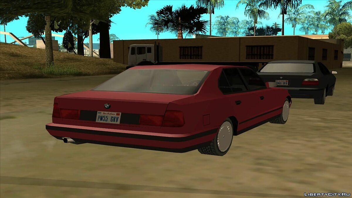 BMW E34 Low Poly for GTA San Andreas - screenshot #2